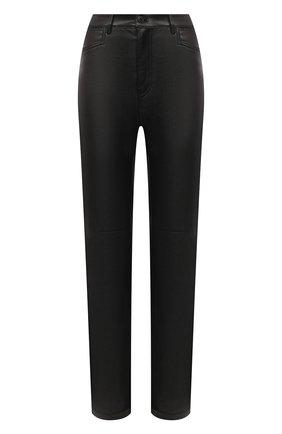 Женские кожаные брюки PROENZA SCHOULER WHITE LABEL черного цвета, арт. WL2046032-LR184 | Фото 1