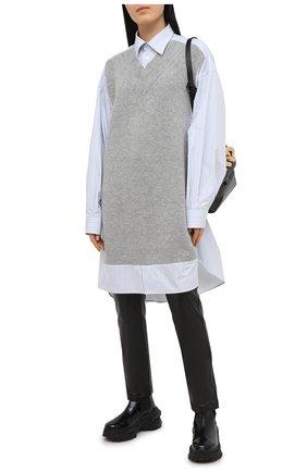 Женские кожаные брюки PROENZA SCHOULER WHITE LABEL черного цвета, арт. WL2046032-LR184 | Фото 2