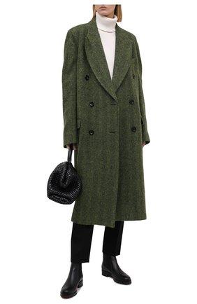 Женские кожаные ботинки marchacroche CHRISTIAN LOUBOUTIN черного цвета, арт. marchacroche flat calf | Фото 2