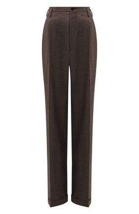 Женские шерстяные брюки MAISON MARGIELA коричневого цвета, арт. S51KA0521/S53200   Фото 1