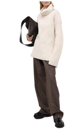 Женские шерстяные брюки MAISON MARGIELA коричневого цвета, арт. S51KA0521/S53200   Фото 2