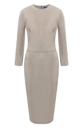 Женское замшевое платье RALPH LAUREN серого цвета, арт. 290815659 | Фото 1