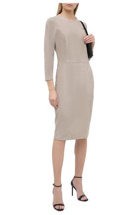 Женское замшевое платье RALPH LAUREN серого цвета, арт. 290815659 | Фото 2