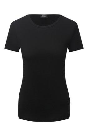 Женская хлопковая футболка DSQUARED2 черного цвета, арт. D8M203310 | Фото 1