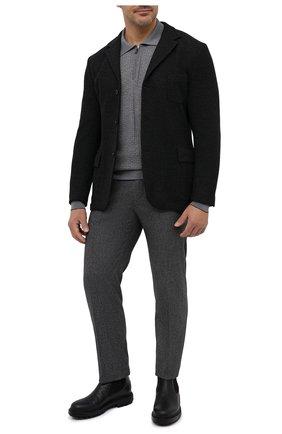Мужское шерстяное поло SVEVO серого цвета, арт. 13080XSA20/MP13 | Фото 2