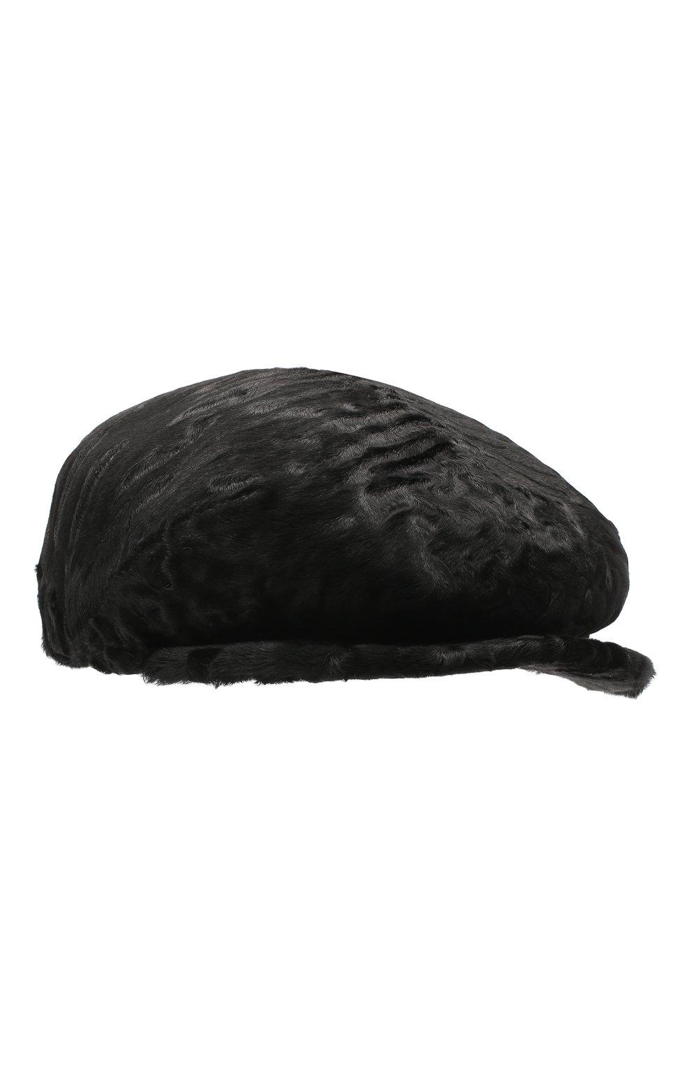 Мужская кепи из меха каракуля дэниэл-2 FURLAND черного цвета, арт. 0232107810024200081 | Фото 1