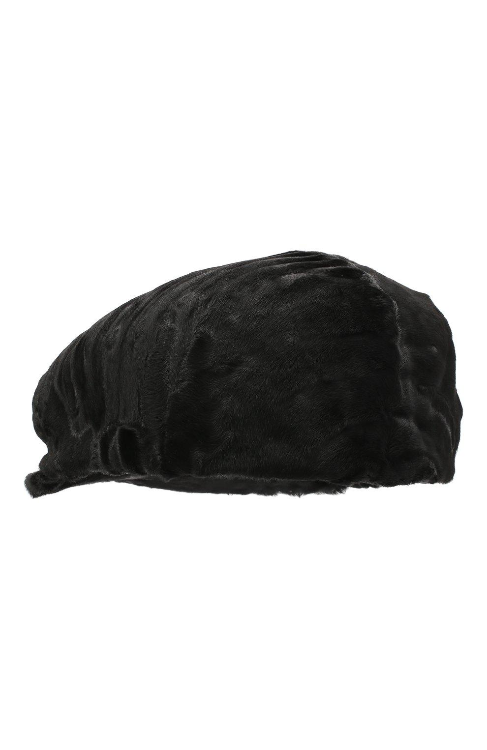Мужская кепи из меха каракуля дэниэл-2 FURLAND черного цвета, арт. 0232107810024200081 | Фото 2