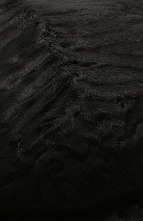 Мужская кепи из меха каракуля дэниэл-2 FURLAND черного цвета, арт. 0232107810024200081 | Фото 3