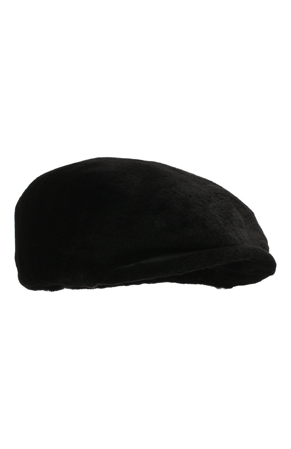 Мужская кепи из меха норки дэниэл-2 FURLAND черного цвета, арт. 0232100150156600914 | Фото 1