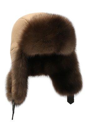 Мужская шапка-ушанка из меха соболя майкл FURLAND коричневого цвета, арт. 0201414210007100008 | Фото 1