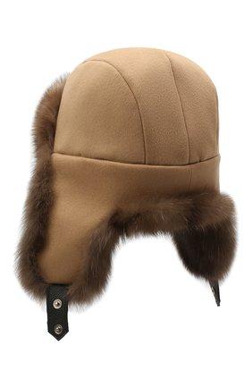 Мужская шапка-ушанка из меха соболя майкл FURLAND коричневого цвета, арт. 0201414210007100008 | Фото 2