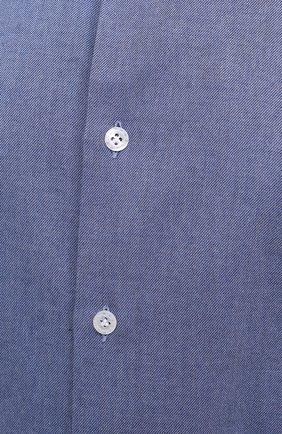 Мужская хлопковая рубашка SONRISA синего цвета, арт. IL7/L1080/47-51 | Фото 5 (Манжеты: На пуговицах; Big sizes: Big Sizes; Рукава: Длинные; Рубашки М: Regular Fit; Воротник: Акула; Случай: Повседневный; Длина (для топов): Стандартные; Материал внешний: Хлопок; Принт: Однотонные; Мужское Кросс-КТ: Рубашка-одежда; Стили: Кэжуэл)