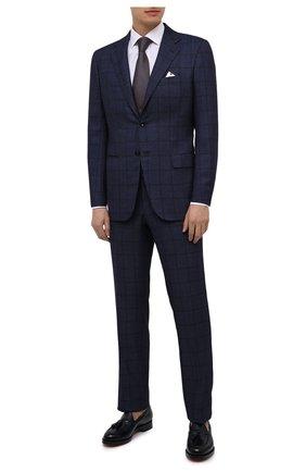 Мужская сорочка из хлопка и шелка ERMENEGILDO ZEGNA белого цвета, арт. 801950/9MCZRM | Фото 2