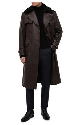 Мужские кожаные ботинки RALPH LAUREN черного цвета, арт. 815820315 | Фото 2
