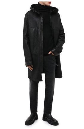 Мужская дубленка ISAAC SELLAM черного цвета, арт. NE0PHYTE-STRAK | Фото 2