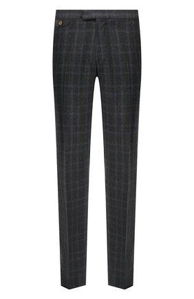 Мужские шерстяные брюки ZILLI синего цвета, арт. M0U-40-38P-D6506/0001 | Фото 1 (Материал внешний: Шерсть; Длина (брюки, джинсы): Стандартные; Материал подклада: Купро; Случай: Формальный; Стили: Классический)