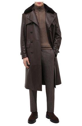 Мужские замшевые челси GIANVITO ROSSI темно-коричневого цвета, арт. U73360.20G0M.SFUM0M0 | Фото 2
