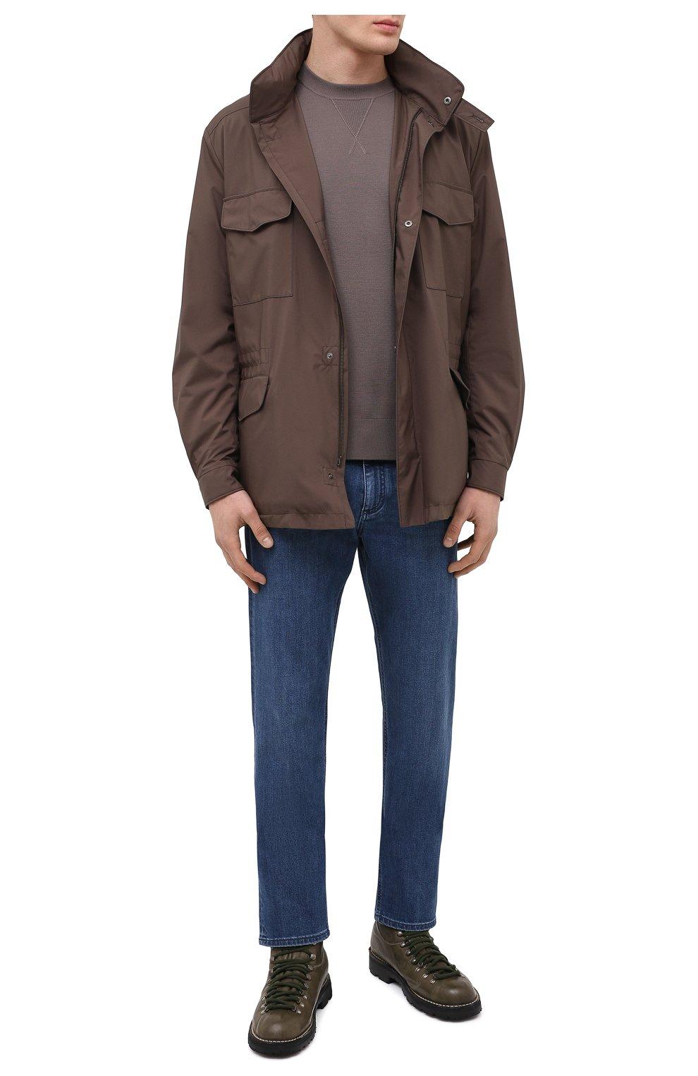 Мужские кожаные ботинки ANDREA VENTURA FIRENZE зеленого цвета, арт. LE APUANE 1/IGNIS WASH/VIBRAM ARCTIC GRIP | Фото 2 (Материал внешний: Кожа; Мужское Кросс-КТ: Хайкеры-обувь, Ботинки-обувь; Материал внутренний: Натуральная кожа; Подошва: Плоская)