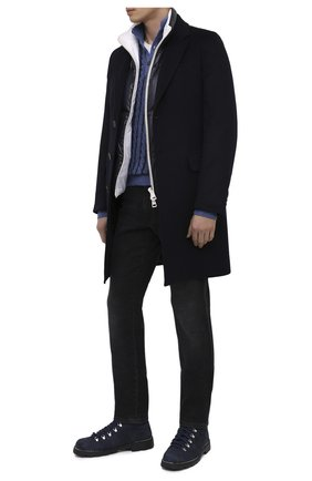 Мужские замшевые ботинки ANDREA VENTURA FIRENZE синего цвета, арт. LE APUANE CITY/ATM0SPHERE/CACHEMIRE/VIBRAM ARCTIC | Фото 2