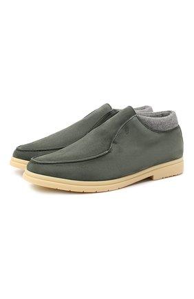 Мужские замшевые ботинки ANDREA VENTURA FIRENZE темно-зеленого цвета, арт. W-SAIL0R-E0LIE/ATM0SPHERE/CACHEMIRE/WS-IV0RY | Фото 1