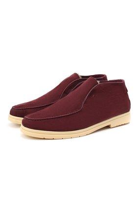 Мужские замшевые ботинки ANDREA VENTURA FIRENZE бордового цвета, арт. W-SAIL0R-EP0ME0/SHEARLING/CACHEMIRE/WS-IV0RY | Фото 1