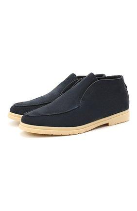 Мужские замшевые ботинки ANDREA VENTURA FIRENZE синего цвета, арт. W-SAIL0R-EP0ME0/SHEARLING/CACHEMIRE/WS-IV0RY | Фото 1