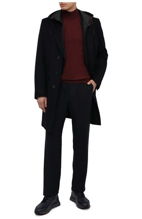 Мужские кожаные кроссовки SANTONI темно-синего цвета, арт. MBCR21409ANAPWYAU53   Фото 2