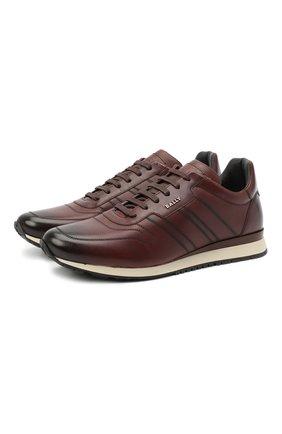 Мужские кожаные кроссовки assio BALLY коричневого цвета, арт. ASSI0/452   Фото 1