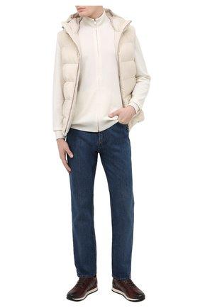 Мужские кожаные кроссовки assio BALLY коричневого цвета, арт. ASSI0/452   Фото 2