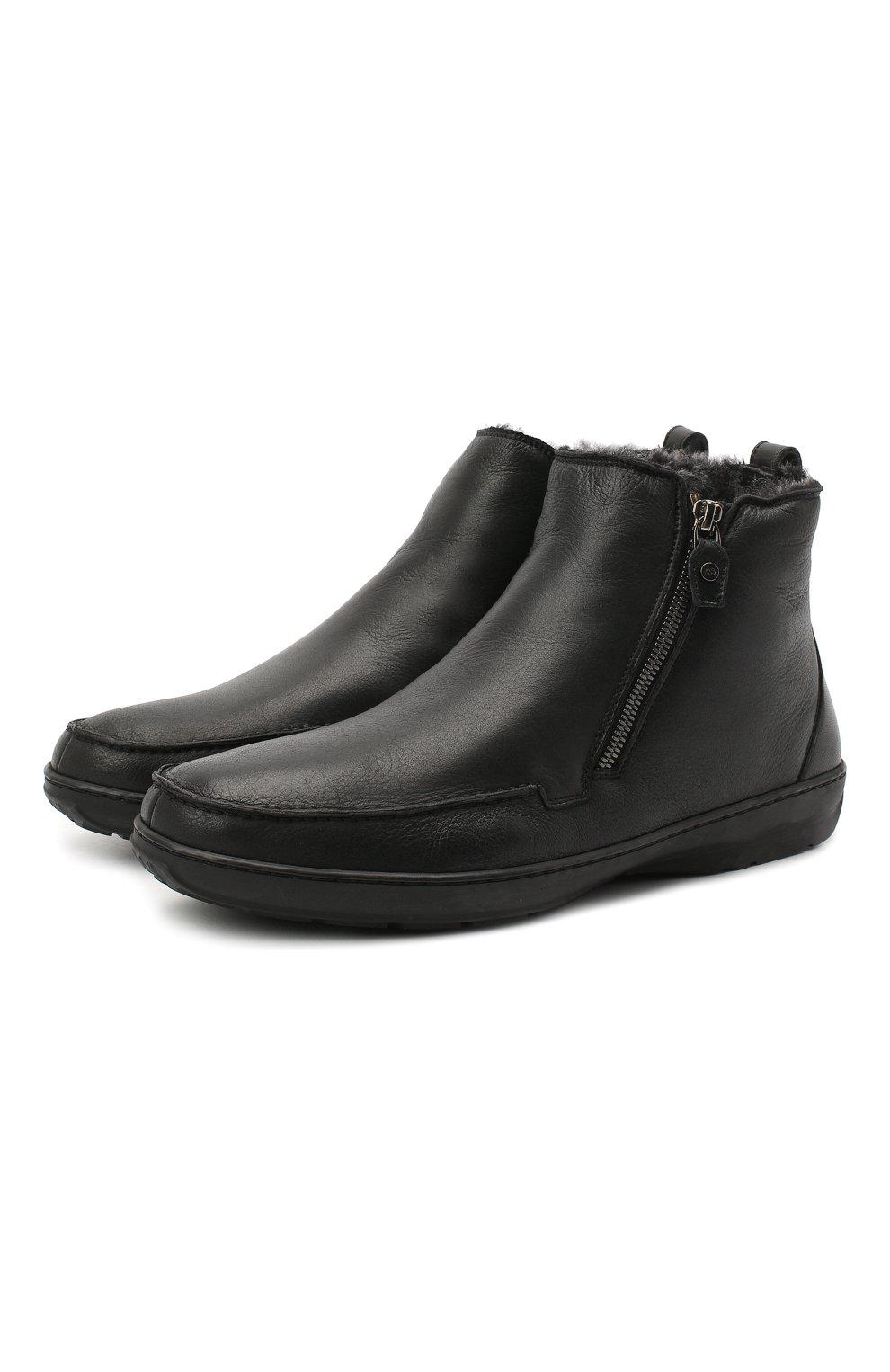 Мужские кожаные сапоги ALDO BRUE черного цвета, арт. AB3014.MDN.S.T | Фото 1