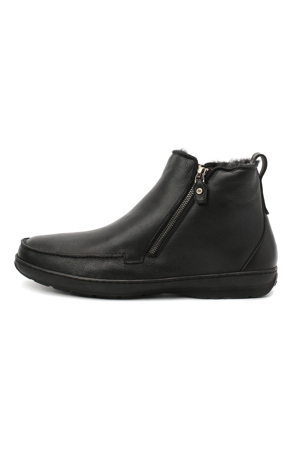 Мужские кожаные сапоги ALDO BRUE черного цвета, арт. AB3014.MDN.S.T | Фото 3
