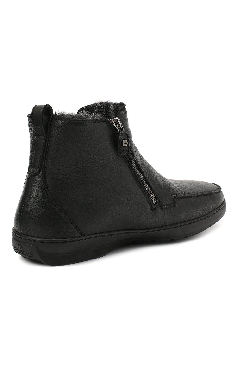 Мужские кожаные сапоги ALDO BRUE черного цвета, арт. AB3014.MDN.S.T | Фото 4