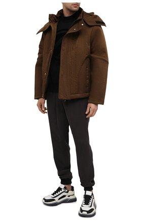 Мужская куртка A-COLD-WALL* коричневого цвета, арт. ACWM0030   Фото 2 (Материал подклада: Синтетический материал; Материал внешний: Синтетический материал; Длина (верхняя одежда): Короткие; Рукава: Длинные; Мужское Кросс-КТ: Верхняя одежда, Куртка-верхняя одежда; Стили: Гранж; Кросс-КТ: Куртка, Ветровка)
