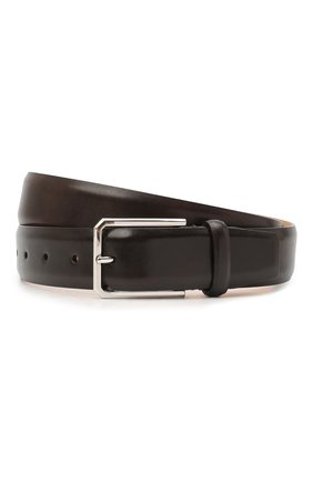 Мужской кожаный ремень SANTONI темно-коричневого цвета, арт. CM35NS003B91E0BRT53 | Фото 1