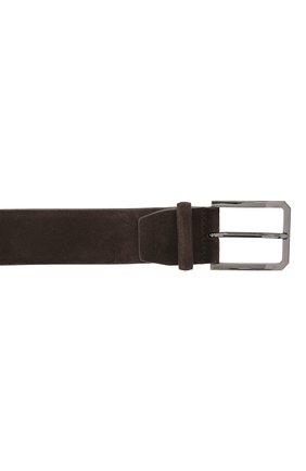 Мужской замшевый ремень SANTONI темно-коричневого цвета, арт. CM40NS003C07G2SNT50 | Фото 3