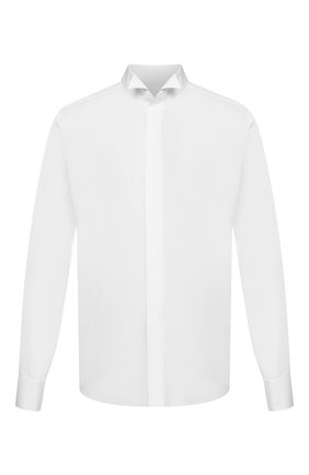Мужская хлопковая сорочка CORNELIANI белого цвета, арт. 86P191-0811082/00 | Фото 1