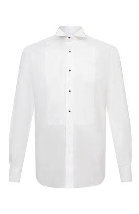 Мужская хлопковая сорочка CORNELIANI белого цвета, арт. 86P197-0811084/00 | Фото 1