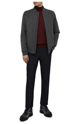 Мужские комбинированные ботинки SANTONI темно-серого цвета, арт. MGMI16851JK2AMENG62 | Фото 2