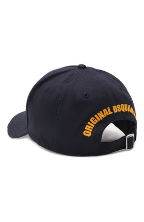 Мужской хлопковая бейсболка DSQUARED2 темно-синего цвета, арт. BCM0081 05C00001 | Фото 2