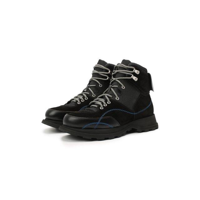 Комбинированные ботинки Jil Sander.