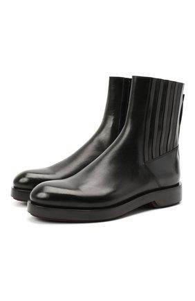Мужские кожаные сапоги ZEGNA COUTURE черного цвета, арт. A4730X-LHHRS   Фото 1