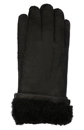 Мужские кожаные перчатки DOLCE & GABBANA черного цвета, арт. BG0142/AW965 | Фото 1