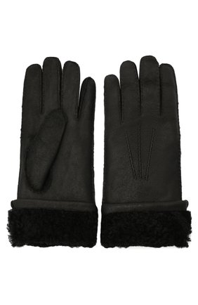 Мужские кожаные перчатки DOLCE & GABBANA черного цвета, арт. BG0142/AW965 | Фото 2