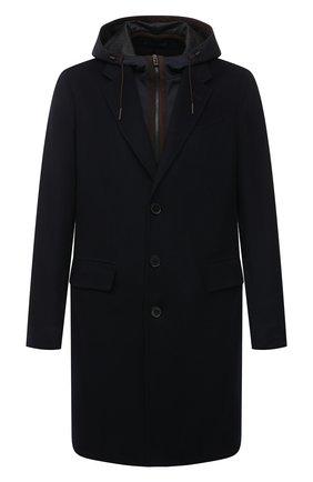 Мужской кашемировое пальто ERMENEGILDO ZEGNA темно-синего цвета, арт. 8GDCS0/899503 | Фото 1