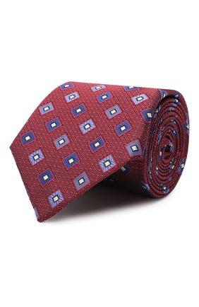 Мужской шелковый галстук CANALI красного цвета, арт. 18/HJ02860 | Фото 1