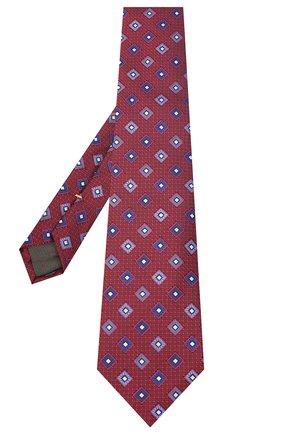 Мужской шелковый галстук CANALI красного цвета, арт. 18/HJ02860 | Фото 2