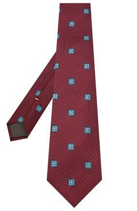 Мужской шелковый галстук CANALI красного цвета, арт. 18/HJ02859 | Фото 2