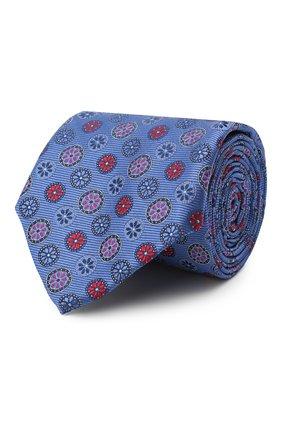 Мужской шелковый галстук CANALI синего цвета, арт. 18/HJ02858 | Фото 1
