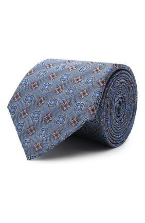 Мужской шелковый галстук CANALI голубого цвета, арт. 18/HJ02857 | Фото 1