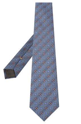 Мужской шелковый галстук CANALI голубого цвета, арт. 18/HJ02857 | Фото 2